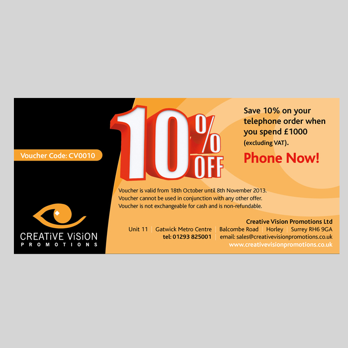 10% Off Your Telephone Order!